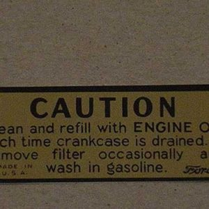 1932-48 OIL BATH AIR CLEANER DECAL-0