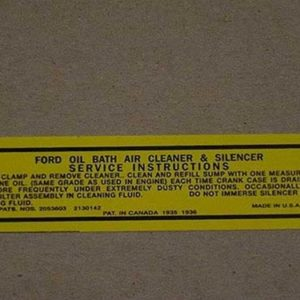 1946-48 OIL BATH AIR CLEANER DECAL-0