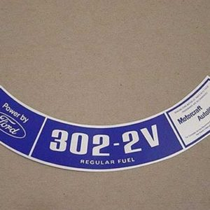 1974 302-2V REG. FUEL AIR CLEANER DECAL-0