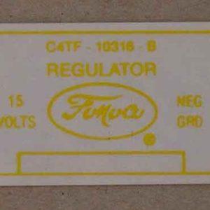 1964 VOLTAGE REGULATOR DECAL-0