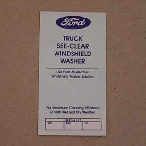 1948-52 FORD TRK WINDSHIELD WASHER DECAL-0