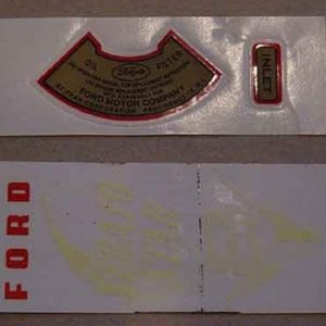 1952-53 OIL FILTER DECAL SET-0