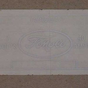 1952-54 FORD VOLTAGE REGULATOR DECAL-0