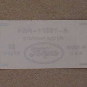 1956-60 FORD PRODUCT STARTER DECAL-0