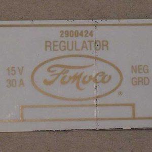 1958-60 FORD VOLTAGE REGULATOR DECAL-0