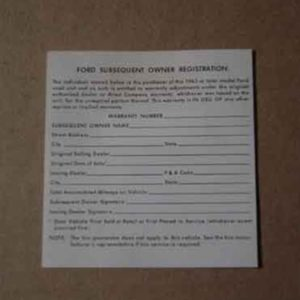 1963-65 SUBSEQUENT OWNERS STICKER-0