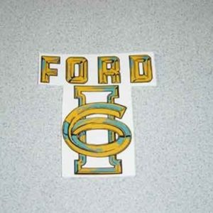 1955 FORD TRUCK I-6 VALVE COVER DECAL-0