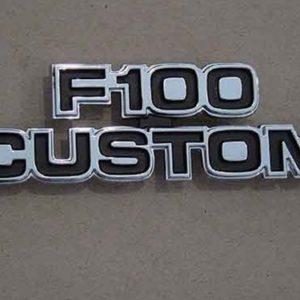 """77-79 Cowl Side Emblem - """"F100 Custom""""-0"""