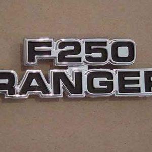 """77-79 Cowl Side Emblem - """"F250 Ranger""""-0"""