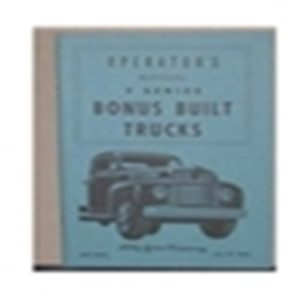 1949 FORD TRUCK OWNERS MANUAL-0