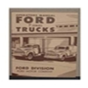 1951 FORD TRUCK OWNERS MANUAL-0