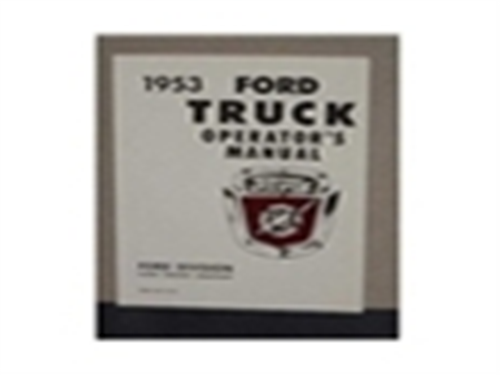 1953 FORD TRUCK OWNERS MANUAL-0