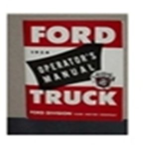 1954 FORD TRUCK OWNERS MANUAL-0