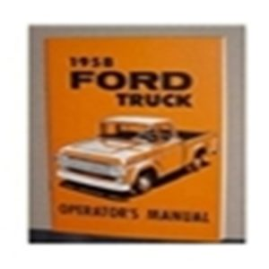 1958 FORD TRUCK OWNERS MANUAL-0