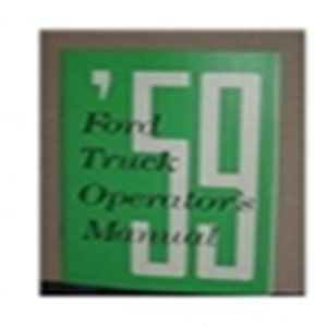 1959 FORD TRUCK OWNERS MANUAL-0